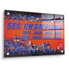 Florida Gators - SEC Champs Sign - College Wall Art #Acrylic