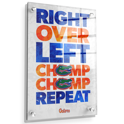 Florida Gators - Chomp Chomp - College Wall Art #Acrylic