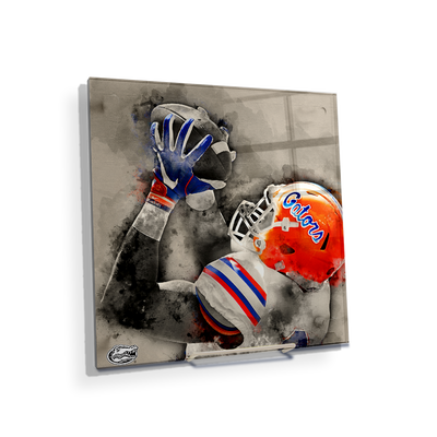 Florida Gators - The Catch Watercolor - College Wall Art #Acrylic Mini