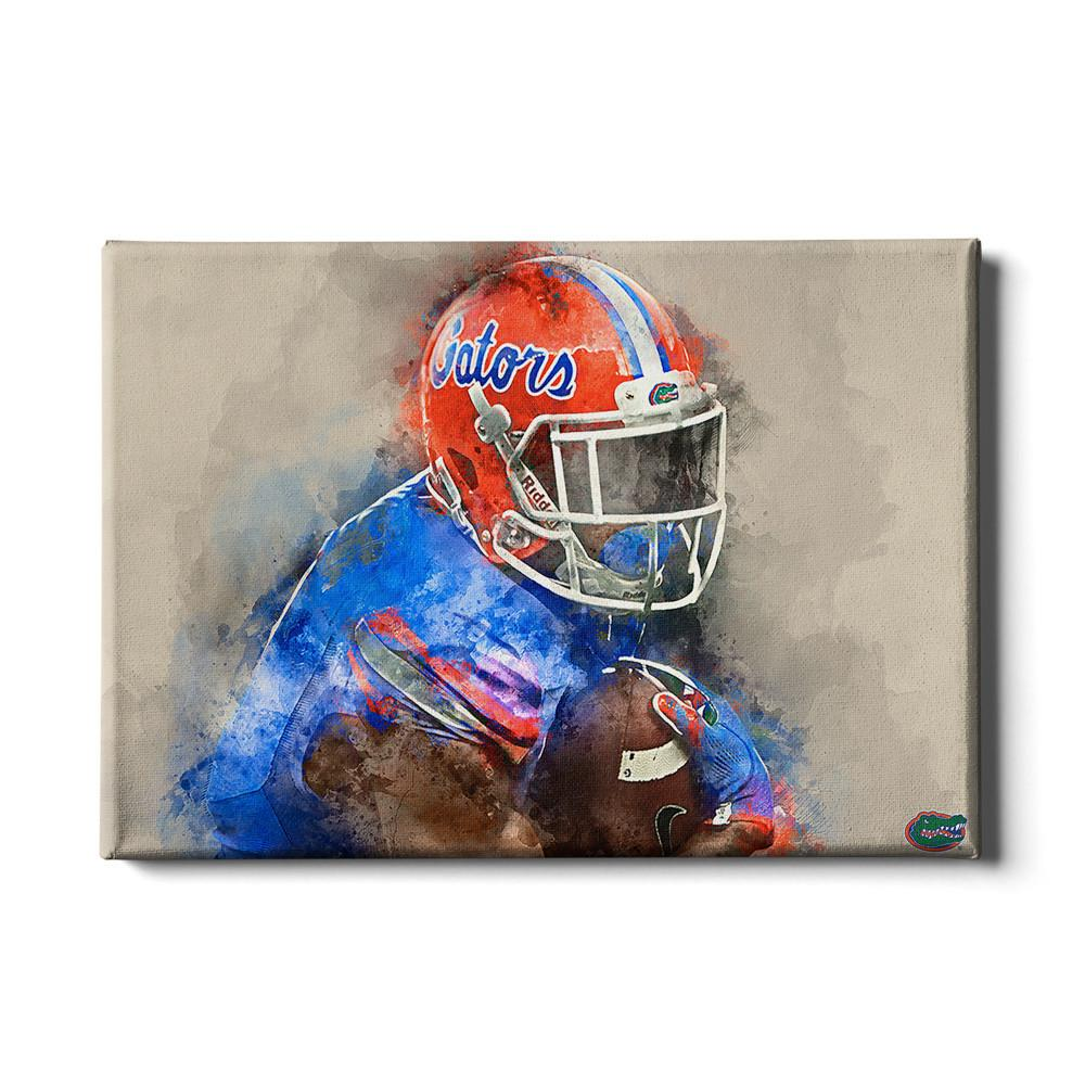Florida Gators - Gator Watercolor - College Wall Art #Canvas