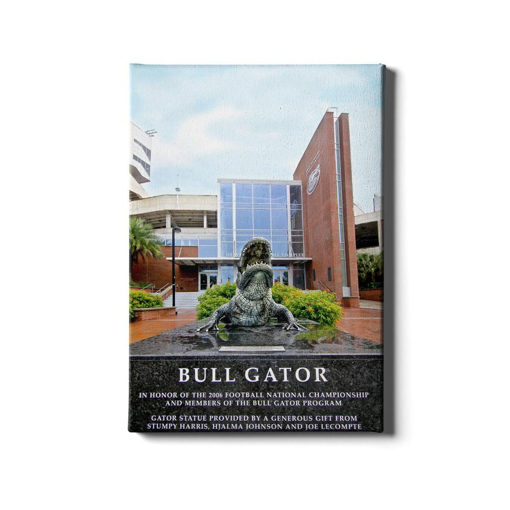 Florida Gators - Bull Gator - College Wall Art #Canvas