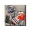 Florida Gators - The Catch Watercolor - College Wall Art #Canvas