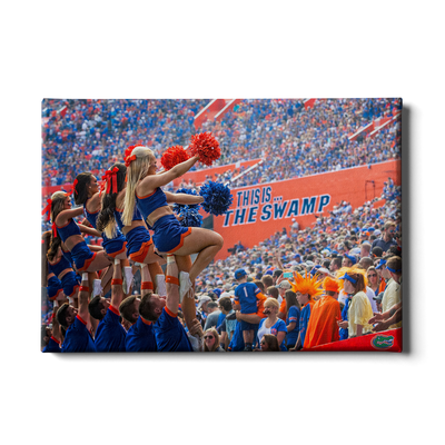 Florida Gators - Swamp Cheer - College Wall Art #Canvas