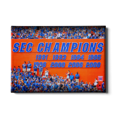 Florida Gators - SEC Champs Sign - College Wall Art #Canvas