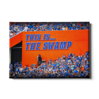 Florida Gators - Swamp Sign - College Wall Art #Canvas