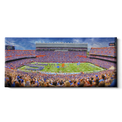 Florida Gators - Ben Hill Griffin Stadium Pano - College Wall Art #Canvas