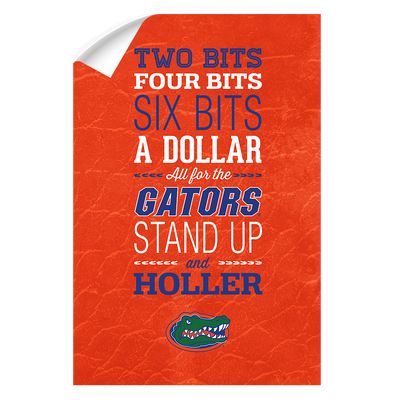 Florida Gators - Mr Two Bits - College Wall Art #Wall Decal