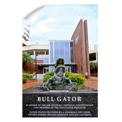 Florida Gators - Bull Gator - College Wall Art #Wall Decal
