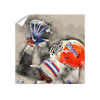 Florida Gators - The Catch Watercolor - College Wall Art #Wall Decal