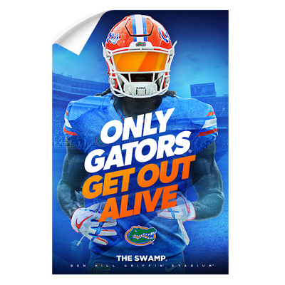 Florida Gators - Only Gators - College Wall Art #Wall Decal