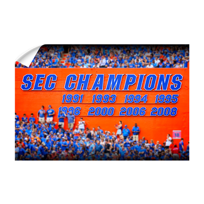 Florida Gators - SEC Champs Sign - College Wall Art #Wall Decal