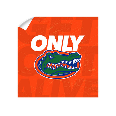Florida Gators - Only Gators Orange - College Wall Art #Wall Decal