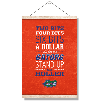 Florida Gators - Mr Two Bits - College Wall Art #Hanging Canvas