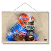 Florida Gators - Gator Watercolor - College Wall Art #Hanging Canvas