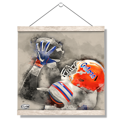 Florida Gators - The Catch Watercolor - College Wall Art #Hanging Canvas