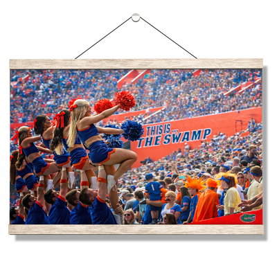 Florida Gators - Swamp Cheer - College Wall Art #Hanging Canvas