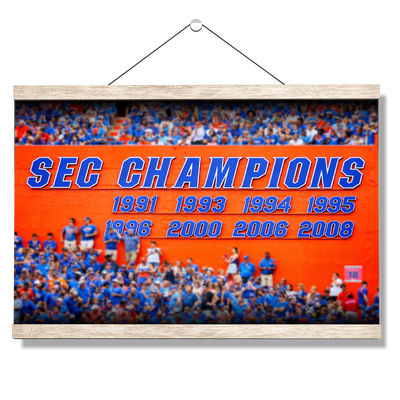 Florida Gators - SEC Champs Sign - College Wall Art #Hanging Canvas