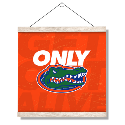 Florida Gators - Only Gators Orange - College Wall Art #Hanging Canvas