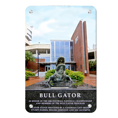 Florida Gators - Bull Gator - College Wall Art #Metal