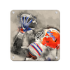 Florida Gators - The Catch Watercolor - College Wall Art #Metal