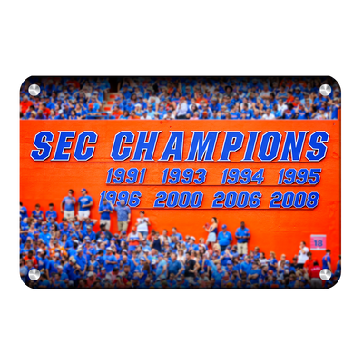 Florida Gators - SEC Champs Sign - College Wall Art #Metal