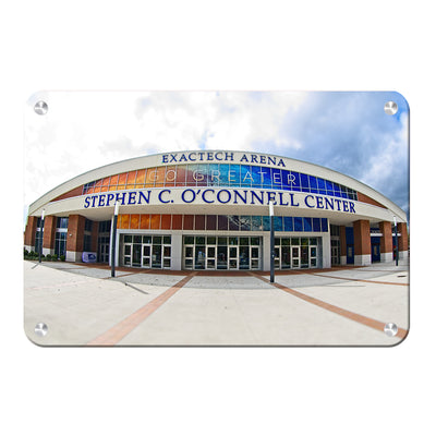 Florida Gators - O'Connell Center - College Wall Art #Metal