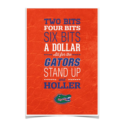 Florida Gators - Mr Two Bits - College Wall Art #Poster