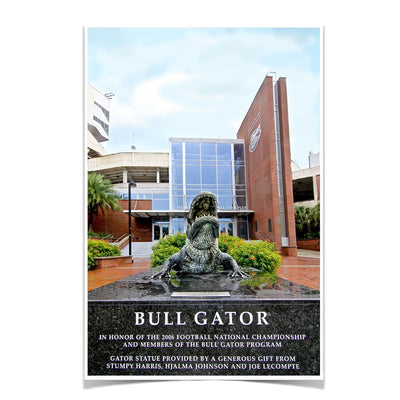 Florida Gators - Bull Gator - College Wall Art #Poster
