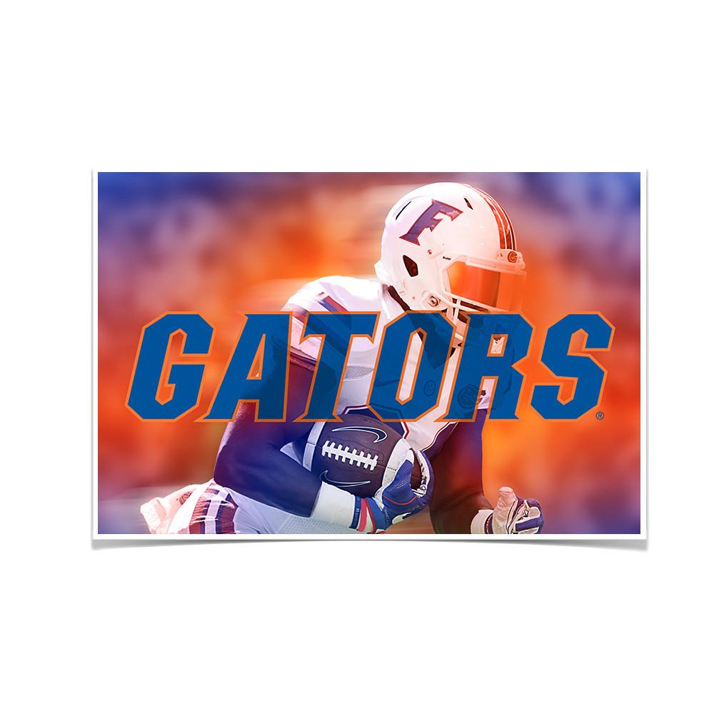 Florida Gators - Throw Back Run - College Wall Art #Canvas