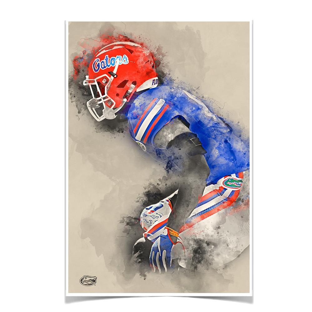 Florida Gators - Gator Defend Watercolor - College Wall Art #Canvas
