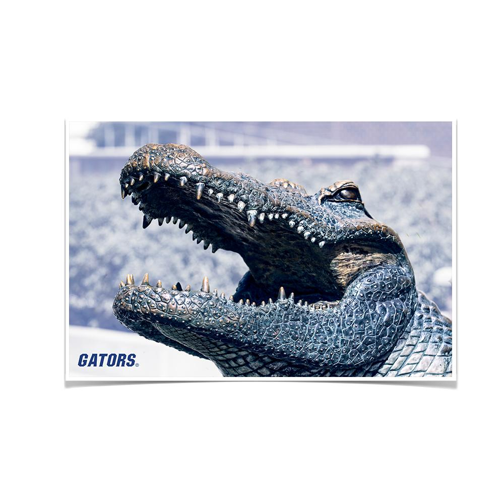 Florida Gators - Bull Gator Up Close - College Wall Art #Canvas