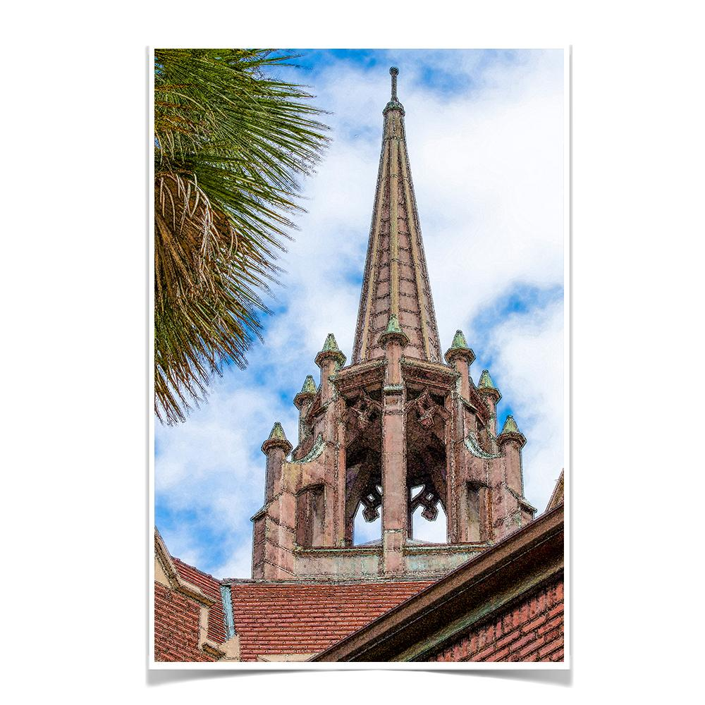 Florida Gators - Church Steeple - College Wall Art #Canvas