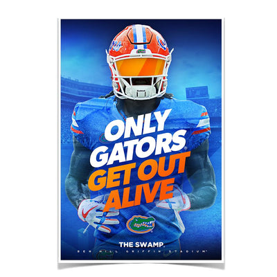 Florida Gators - Only Gators - College Wall Art #Poster