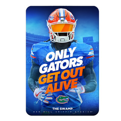 Florida Gators - Only Gators - College Wall Art #PVC