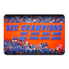 Florida Gators - SEC Champs Sign - College Wall Art #PVC