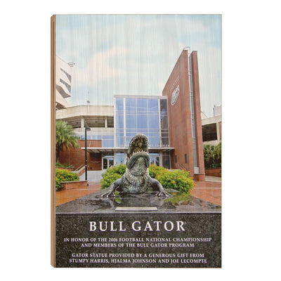 Florida Gators - Bull Gator - College Wall Art #Wood