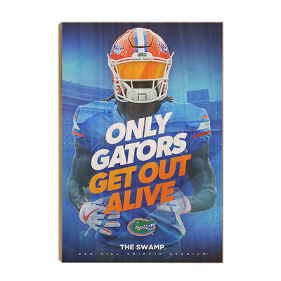 Florida Gators - Only Gators - College Wall Art #Wood