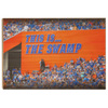 Florida Gators - Swamp Sign - ColleFlorida Gators - Swamp Sign - College Wall Art #WoodWall Art #Canvas