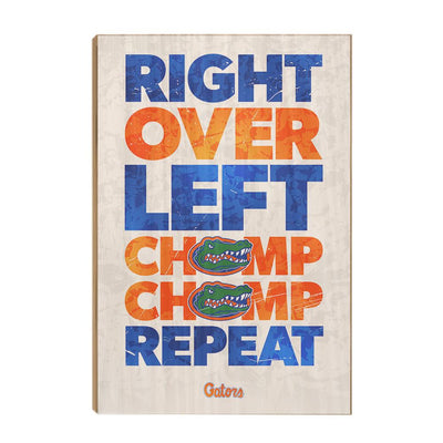 Florida Gators - Chomp Chomp - College Wall Art #Wood