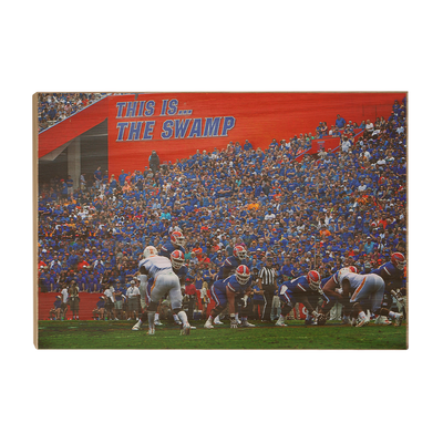 Florida Gators - In the Swamp - College Wall Art #Wood