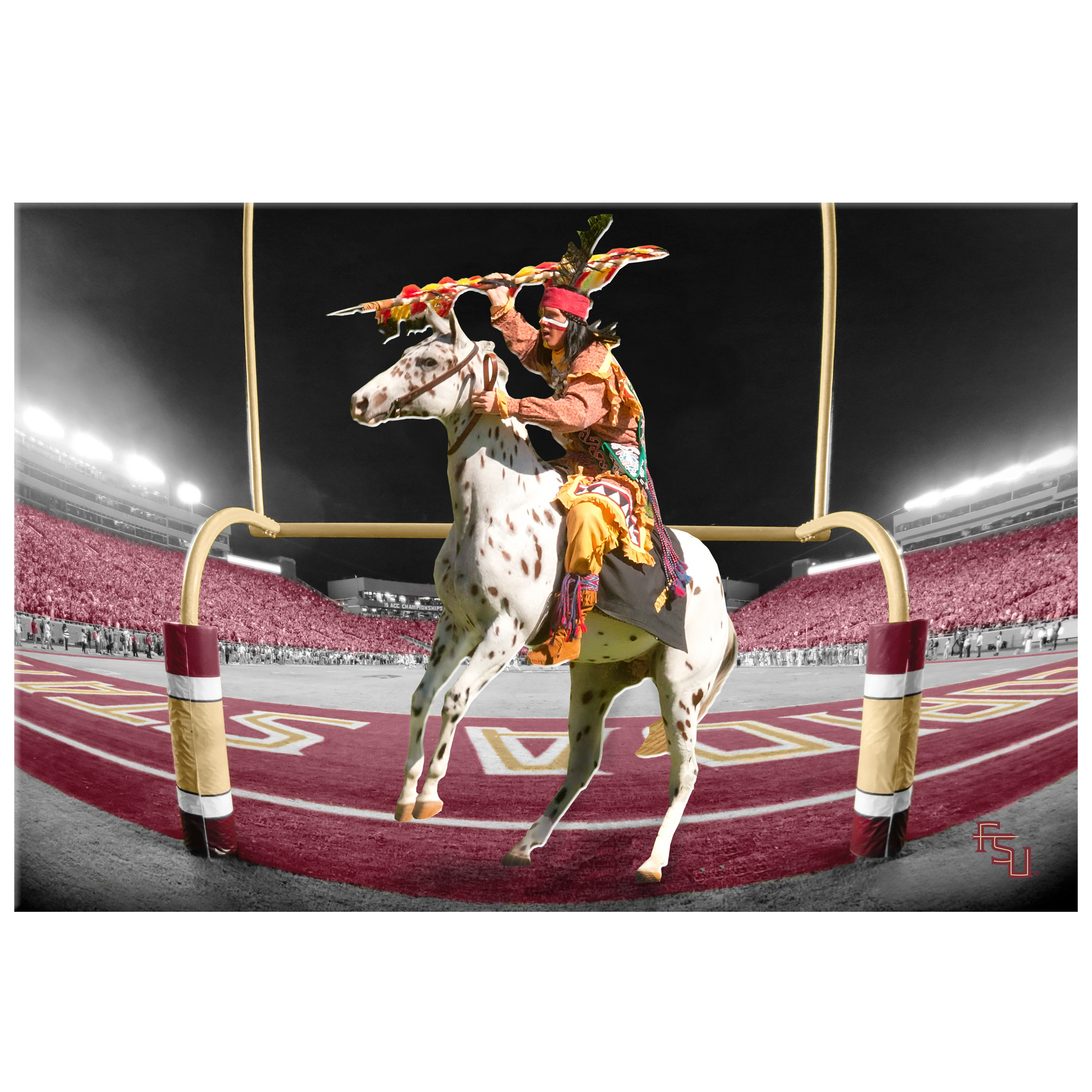 Florida State Seminoles - FSU Score - 2 Layer Dimensional - College Wall Art #Dimensional