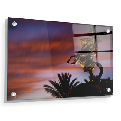 Florida State Seminoles - Osceola Last Light -College Wall Art #Acrylic