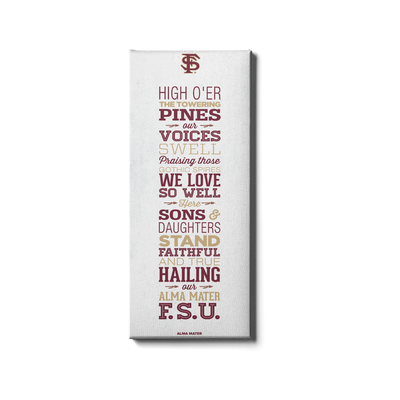 Florida State Seminoles - Alma Mater - College Wall Art #Canvas
