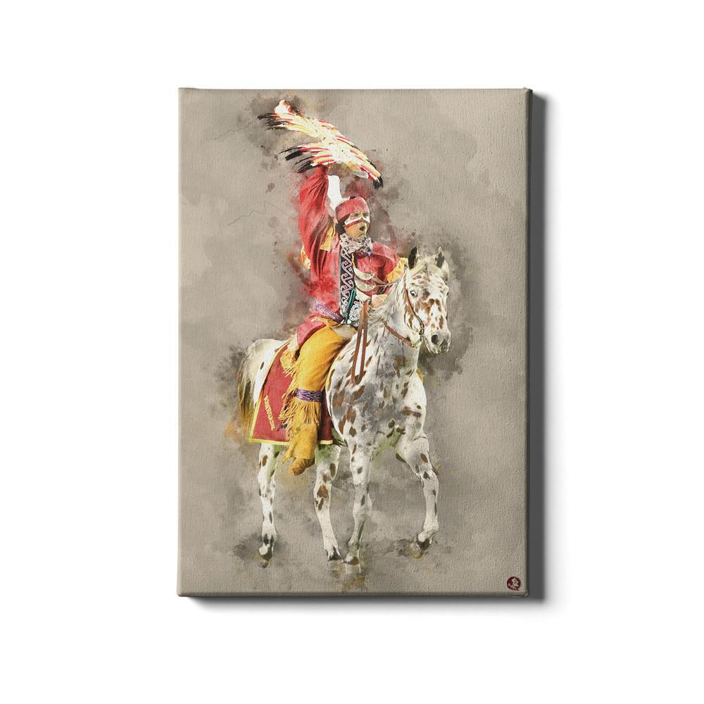 Florida State Seminoles - Osceola Watercolor - College Wall Art #Canvas