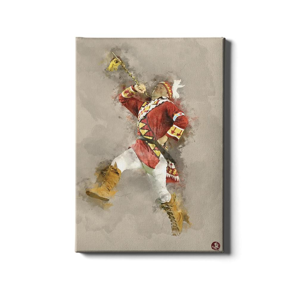 Florida State Seminoles - Seminole Watercolor - College Wall Art #Canvas
