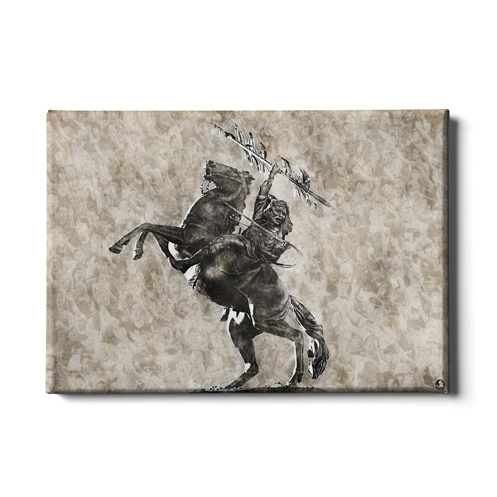 Florida State Seminoles - Vintage Osceola - College Wall Art #Canvas
