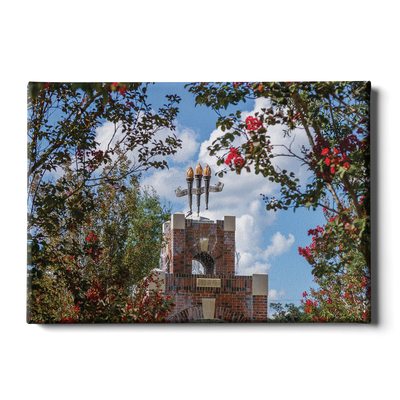 Florida State Seminoles - Red Bloom Framed Torches - College Wall Art #Canvas