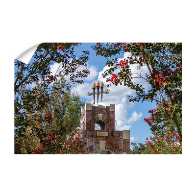 Florida State Seminoles - Red Bloom Framed Torches - College Wall Art #Wall Decal