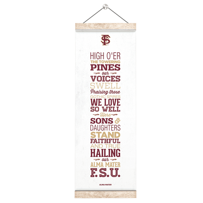 Florida State Seminoles - Alma Mater - College Wall Art #Hanging Canvas
