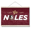 Florida State Seminoles - Go Noles - College Wall Art #Hanging Canvas